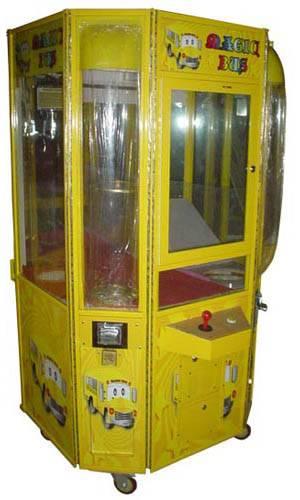 toy crane with bulk vending  machine