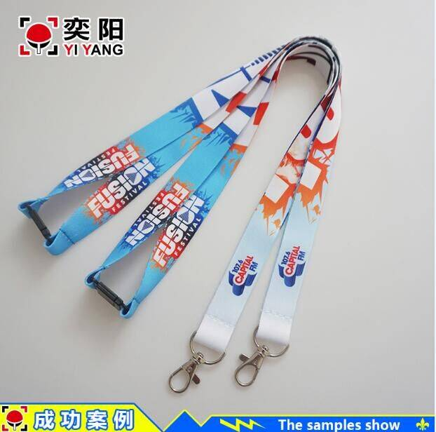 Wholesale colorful sublimation lanyard & cheap custom polyester lanyard