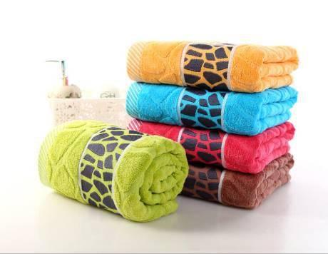 cotton satin border face towel