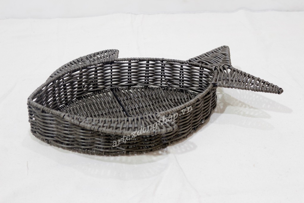 Best selling poly rattan animal basket - CH4082A-1DGY