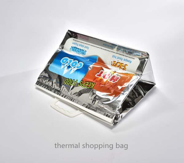 Plastic thermal shopping tote bag
