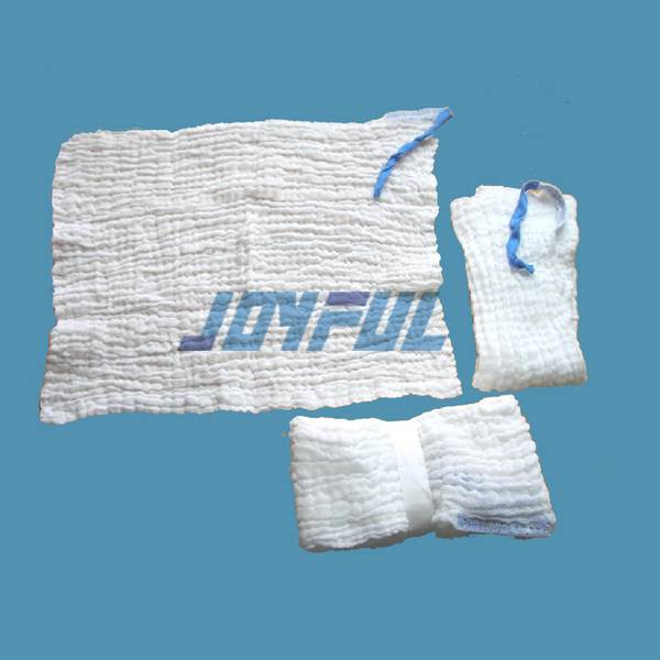 Prewashed and Unwashed Abdominal Pads with or without X-ray detectable thread or chip