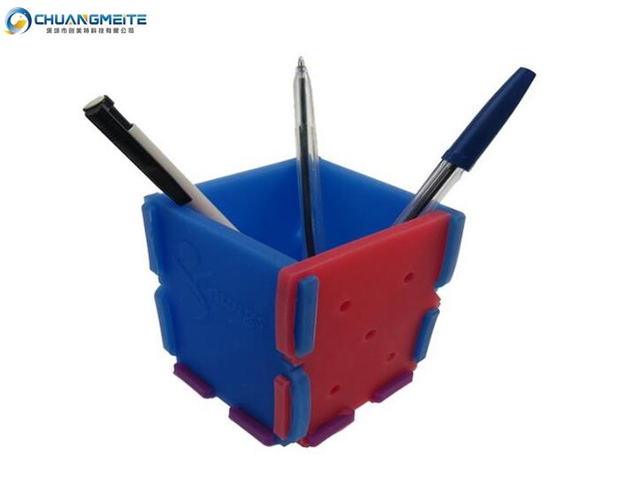 silicone pen holder student children square stationery box silicone storage boxes
