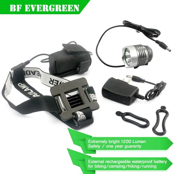 1200LM Waterproof CREE XM-L T6 LED Used Bicycles Rechargeable Bicycle Headlight