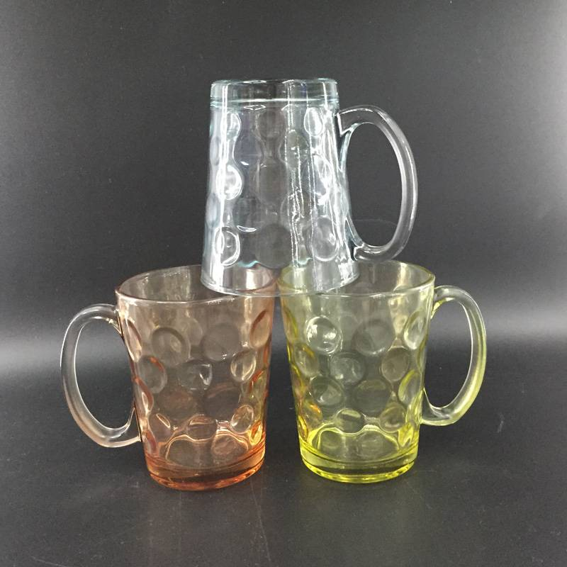 High quality waterware Glass cup glass tumbler tea cup drinking glass colorful glass glass mug beer