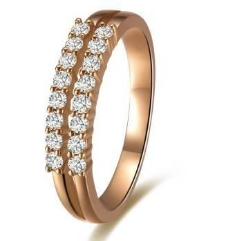 Double Inlay Diamond Ring