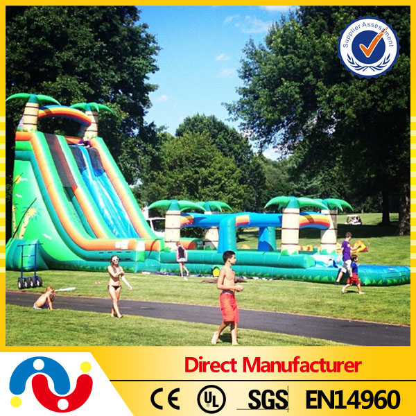 Hot Extra outdoor long slide,inflatable slip and slide for sale
