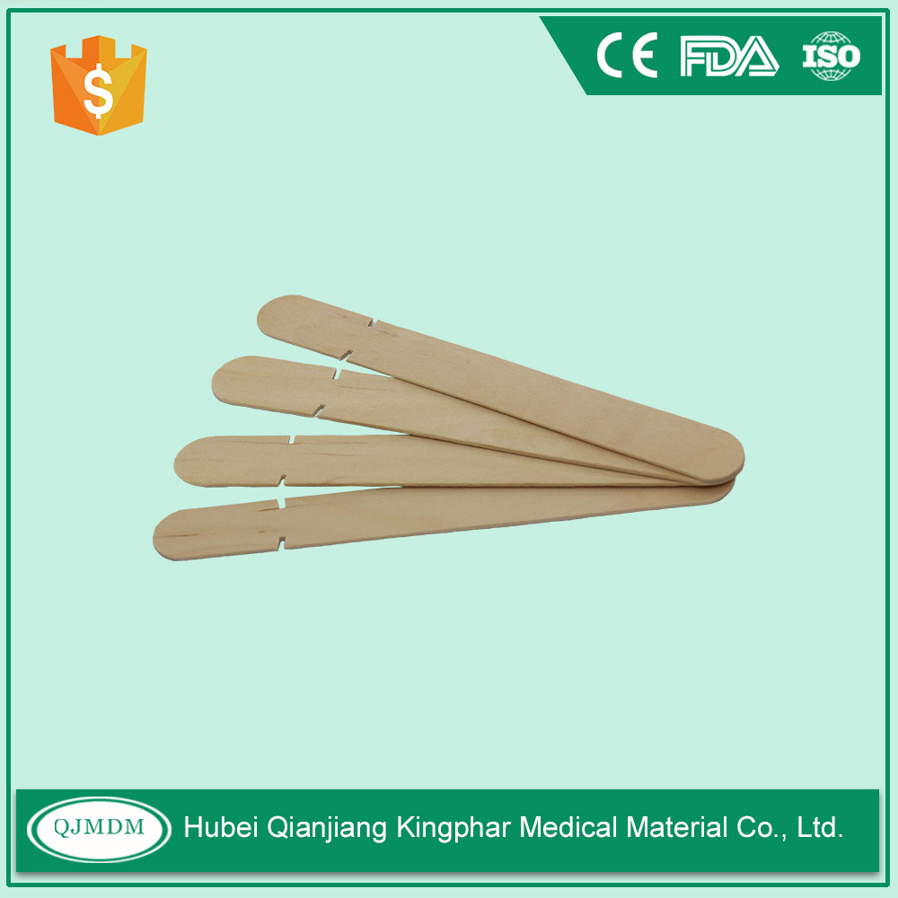 Sterile disposable wooden tongue depressor