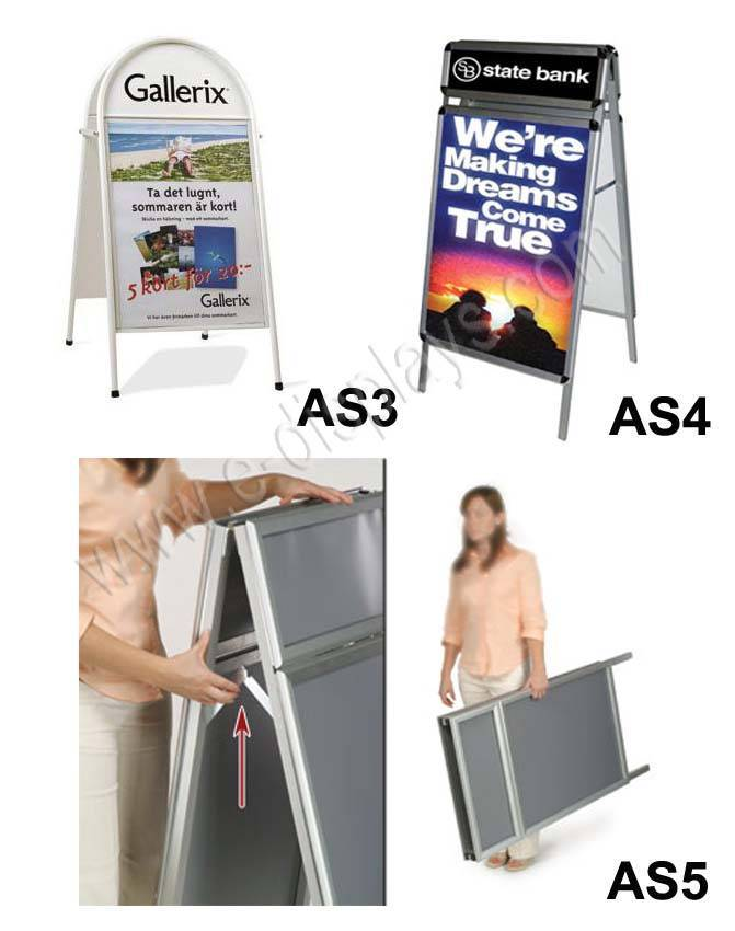double-side poster frame;poster stand;poster frame stand