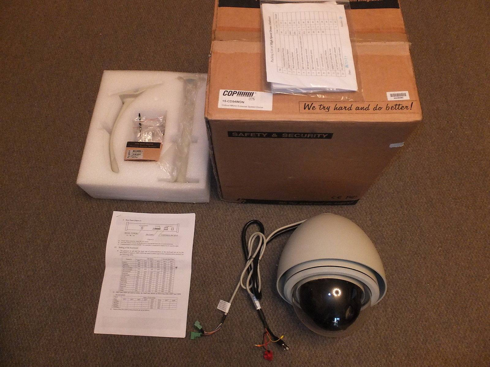 BOXED COP SECURITY DAY NIGHT PTZ DOME 18x SONY SUPER-HAD CAMERA & PTZ CONTROLLER