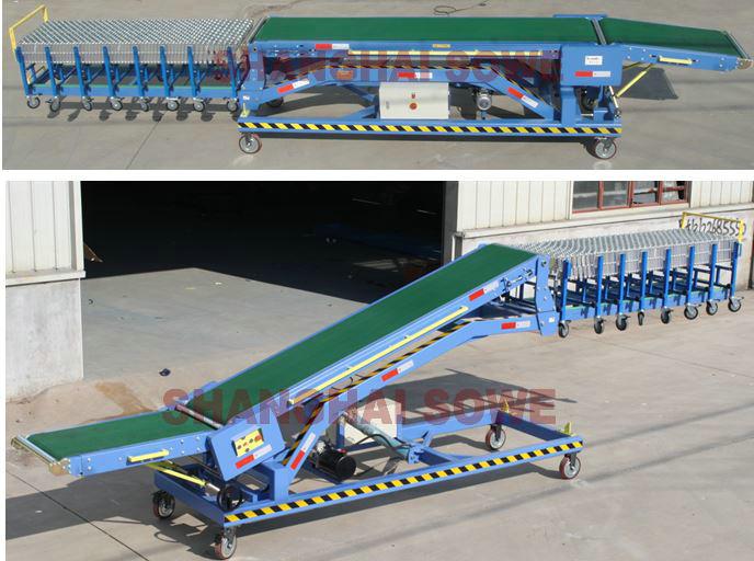 SVMVL2-Movable Van Loader/Vehicle loading and unloading conveyor
