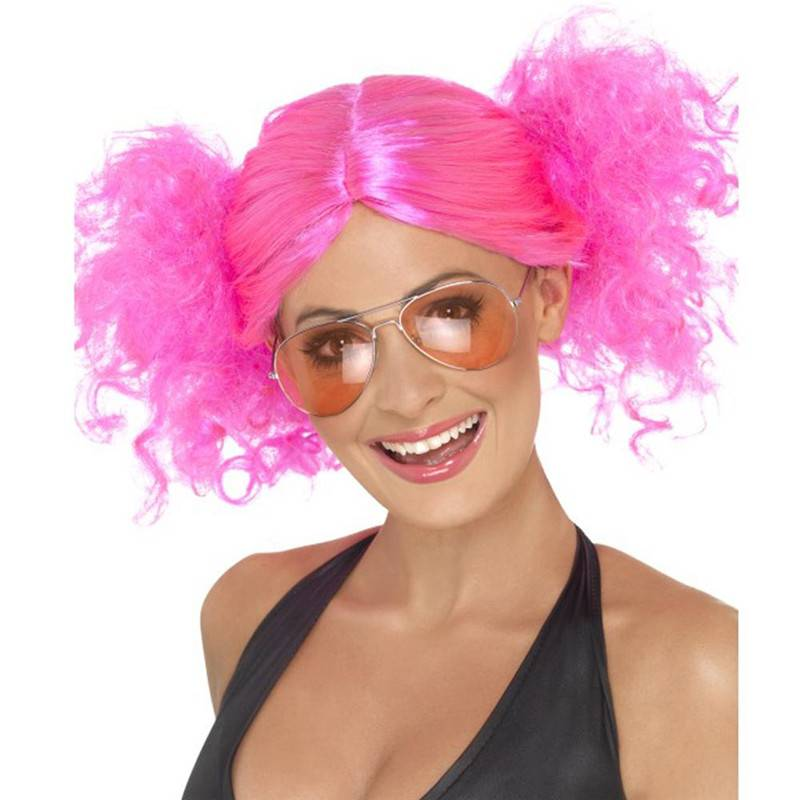 Halloween pink bunches wig