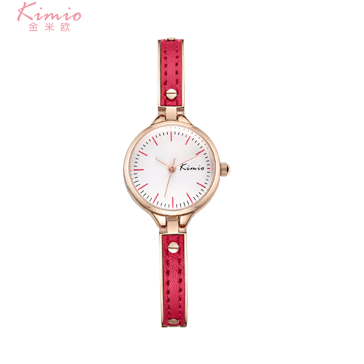 Fashion hot style leather wrist watches womens waterproof brand high quality quartz watches