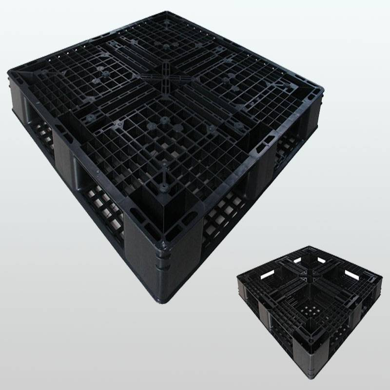 plastic pallet with picture frame bottom,grid.stackable.1100*1100*125