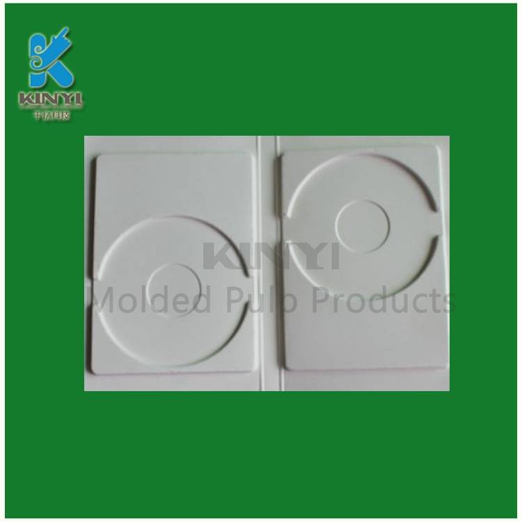 Custom fiber material pulp molding dvd box set packing tray