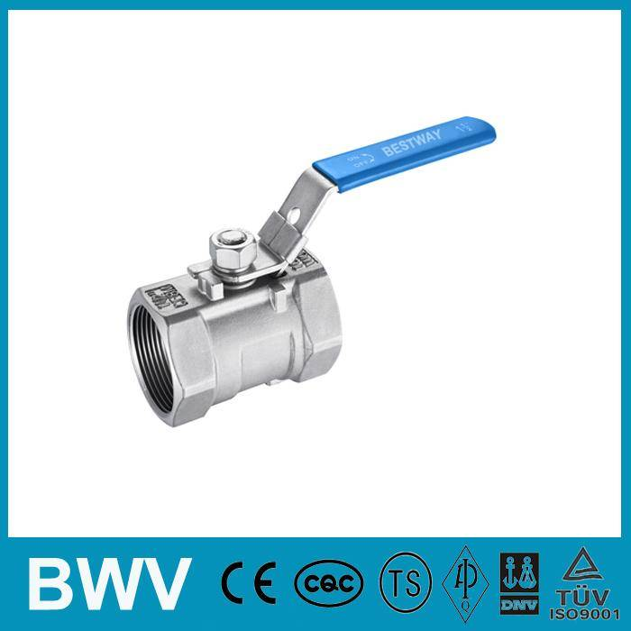 1PC Stainless Steel Ball Valve Threaded Ends 1000WOG