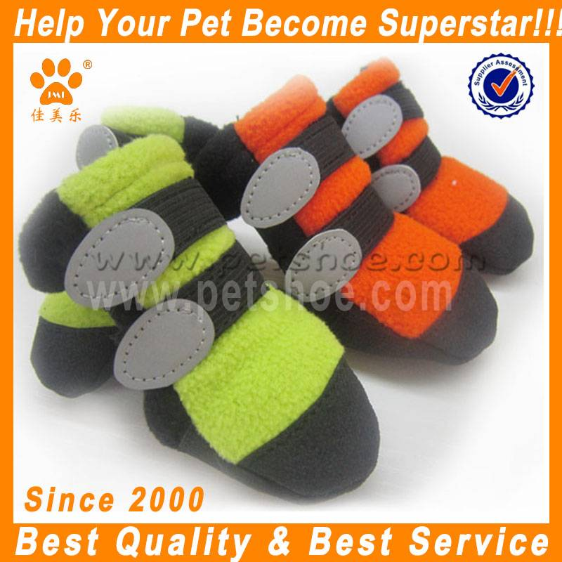 JML the latest winter warm color polar fleece dog soft shoes X625
