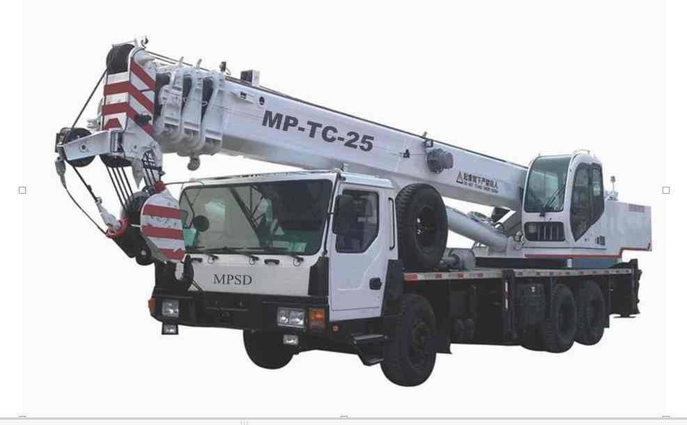 Crane on truck, lifting truck