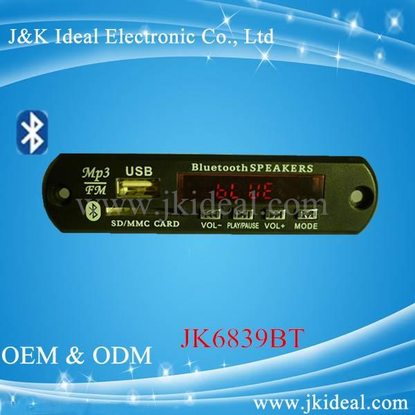 Bluetooth usb sd mp3 player module
