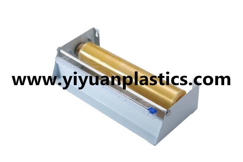 permanent use metal dispenser for cling film or aluminum foil
