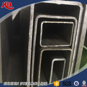 Rectangle hollow section black steel tube