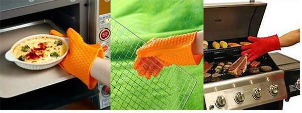 Kitchen Waterproof BBQ heat resistant silicon gloves