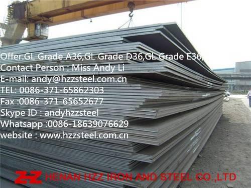 GL Grade A36,GL Grade D36,GL Grade E36,GL Grade F36,Shipbuilding Steel Plate