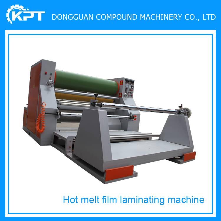 double layer fabric hot film hot press laminating machine