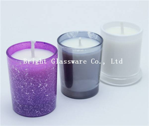 Natural Scented Soy Candle In Glass Candle holder