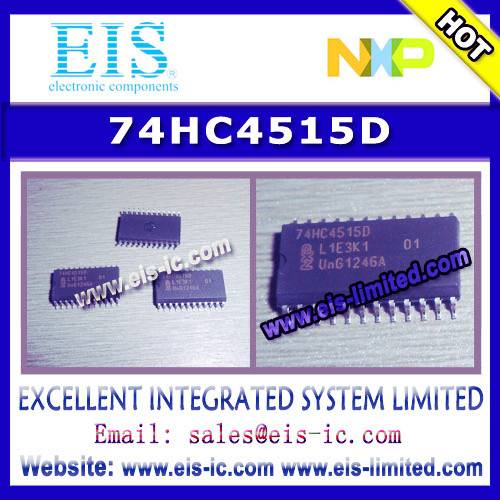 74HC4515D - NXP - 4-to-16 line decoder/demultiplexer with input latches; inverting