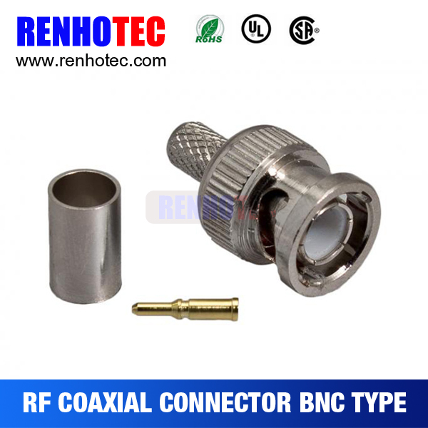 crimp type BNC male connector