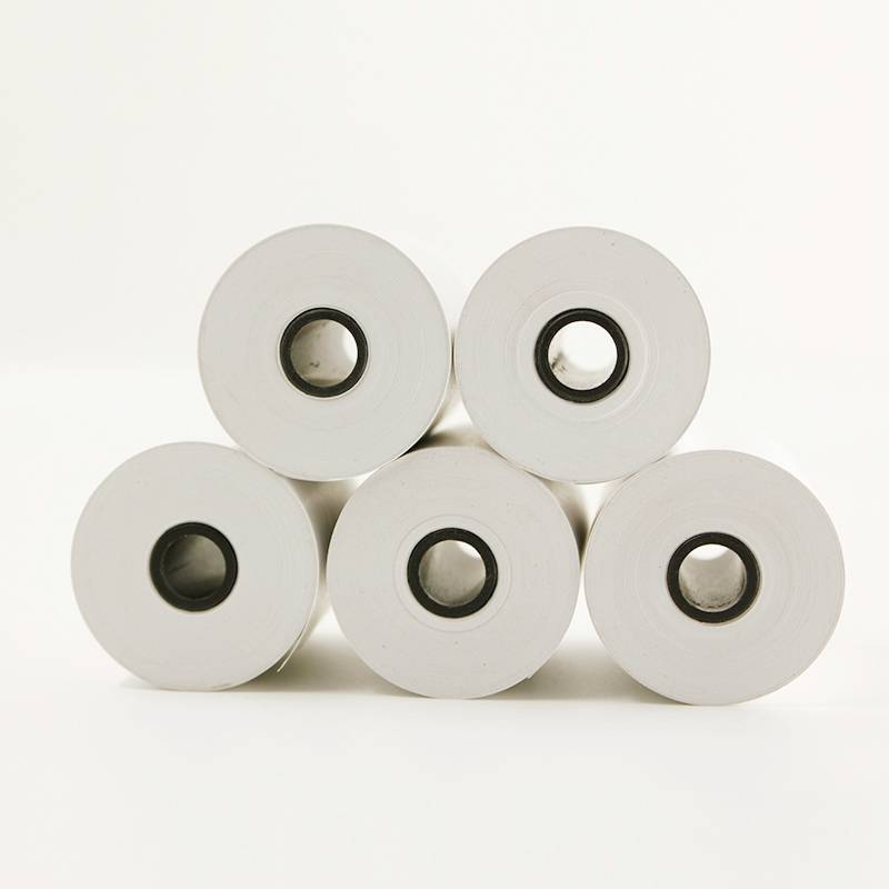 12mm plastic core cashier paper roll for pos machine