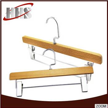 Good Quality Natural Wooden Clothing Pant Hanger