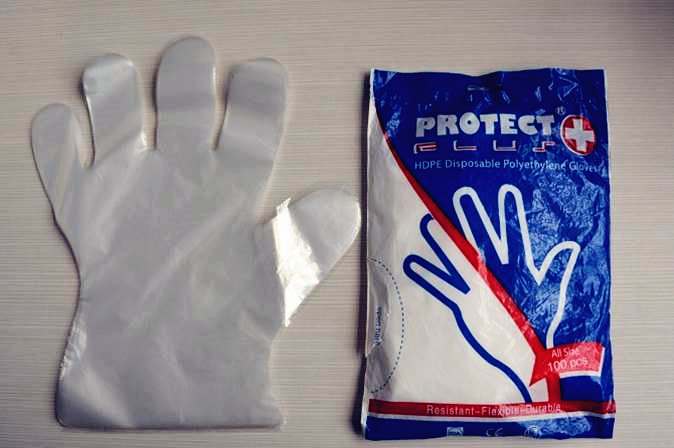plastic disposable gloves, HDPE household gloves