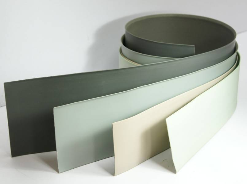 1.8mm thickness soft plastic skirting board for homogenous flooring