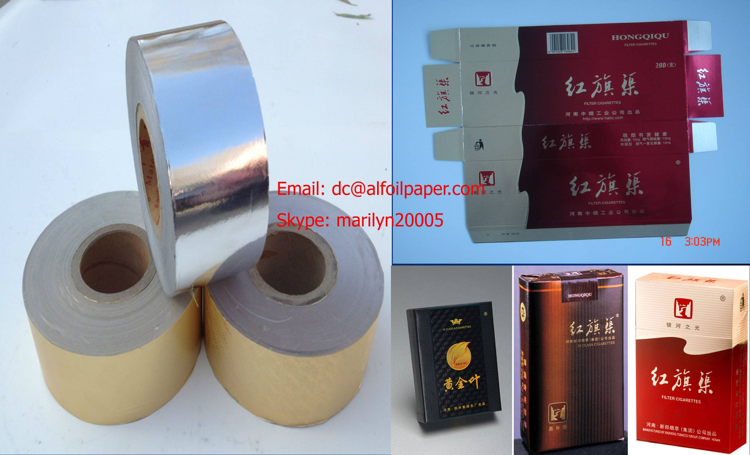 paper laminated aluminum foil for cigarette packing+008615837924957