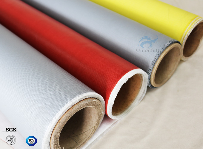 Anti-Corrosion Fireproof Silicone Coated Fiberglass Fabric For Welding Blanket