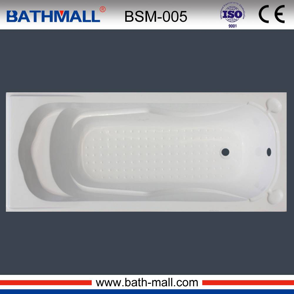 Durable drop in fiberglass bathtub with seat