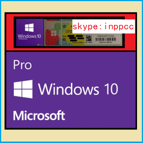 LICENZA WINDOWS 10 PROFESSIONAL 32-64BIT LABEL STICKER COA ATTIVAZIONE