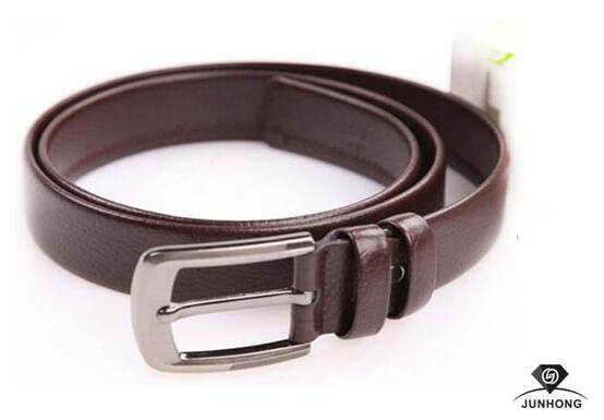 Fashion cowhide leather belt with the pin buckle for man