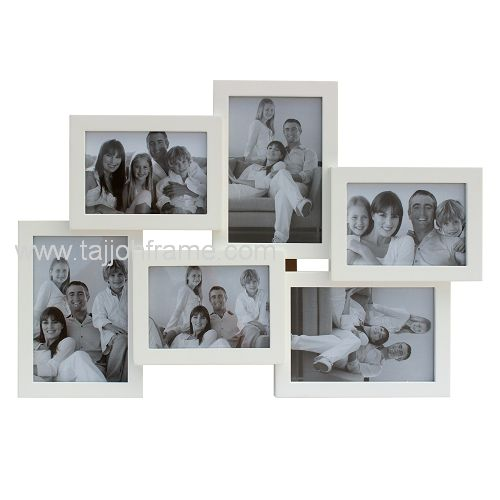 New Design 6-Opening Collage Wooden Photo Frame