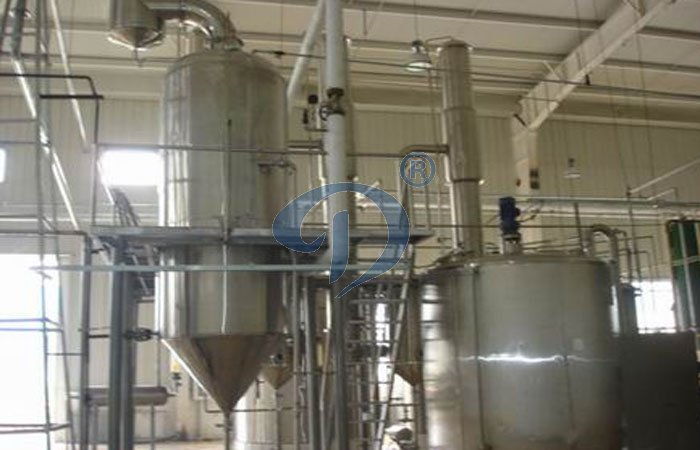 Single effect evaporator system during syrup processing plant