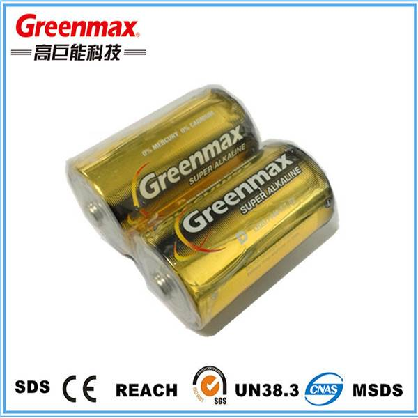 Factory Wholesales lr20 Alkaline Battery 1.5v d with MSDS