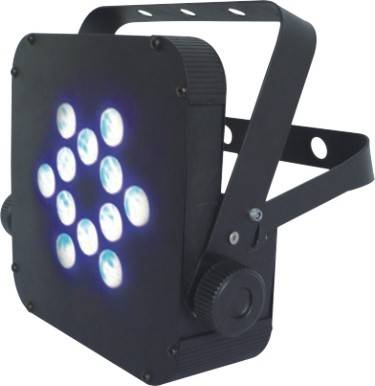 12*3W LED Battery Powered Flat Par Light Tri-color 3in1