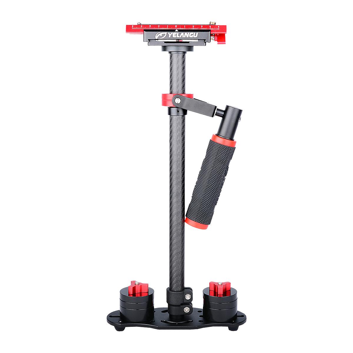 YELANGU Rubber Handle Aluminum ABS Stabilizer Steadycam For Mini DV Camera