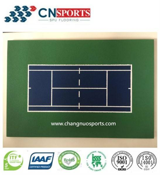 SPU Tennis Court flooring