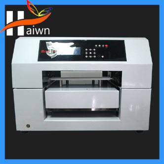 High quality digital plastic card,pvc id card flatbed printing machine haiwn-500