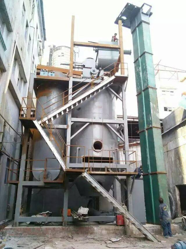 SUNKEY biomass gasifier provide heating for combustion furnace