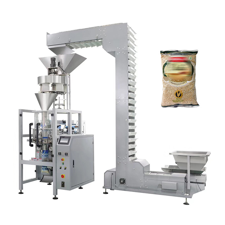 Automatic weighing oats corn flakes cereal packing machine