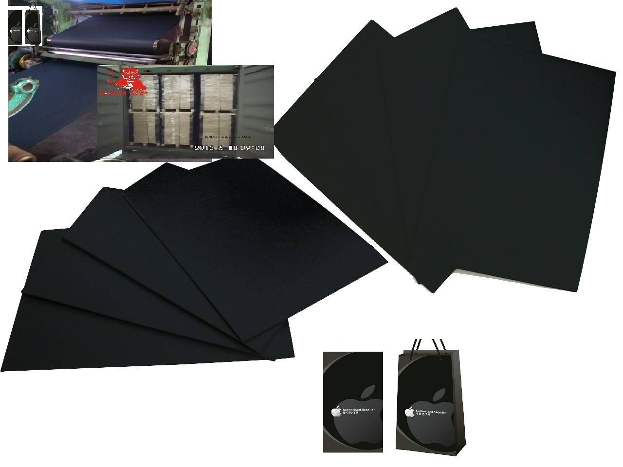 Glossy black paper card/black cardboard paper sheet/black paperboard/paper board/black paper card